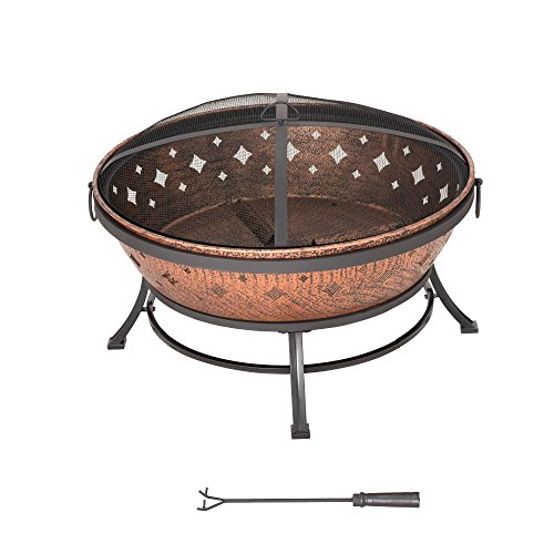 Sunjoy L-FT629PST Squaw Valley Firepit, Cozy Warmth