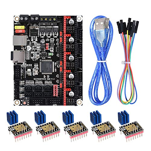 BIQU DIRECT SKR V1.3 32bit Control Board Smoothieboard & Marlin Open Source with 5pcs Stepstick Mute TMC2208 V3.0 Stepper Driver Module for 3D Printing Parts