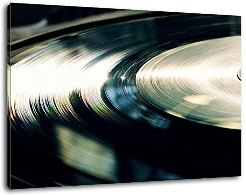 Record, la música, la música, DJ, tamaño: 100x70 cm, pintura sobre lienzo cubierto, imágenes enormes XXL por completo y totalmente enmarcados con camilla, Láminas en cuadro de la pared con el marco, más barato que la pintura o la fotografía, no hay carteles o póster