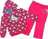 Hello Kitty 80/86 - Sudadera y pantalón de chándal con diseño de gato rosa, talla EE. UU. 24 meses rosa 80/86 cm