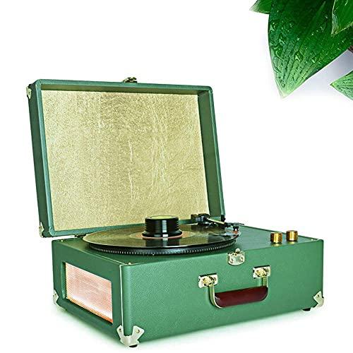 ZSMLB Tocadiscos Vinilo Belleza Moderna, fonógrafo Antiguo, clásico, portátil, portátil, Sala Estar, Tocadiscos Vinilo para el hogar Europeo