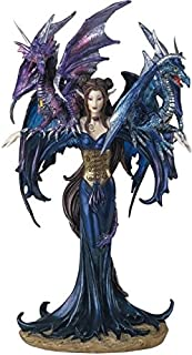 George S. Chen Imports SS-G-91276 Fairy Collection Pixie with Dragon Fantasy Figurine..