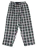 Chaps Mens Performance Sleepwear Cotton Lounge Pajama Pant (Green Plaid, M)