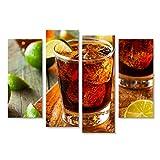 islandburner Bild Bilder auf Leinwand Cuba Libre Rum Cola