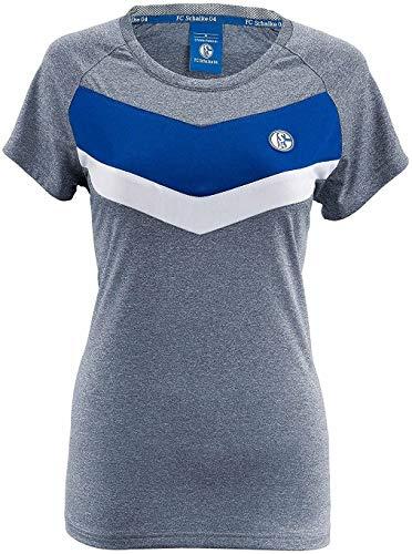FC Schalke 04 T-Shirt Damen Tech S04 - Plus gratis Aufkleber Forever Gelsenkirchen (M)