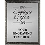 Corporate Plaques - 5 x 7 Employee of The Year Etched Recognition Trophy Plaque Award Prime