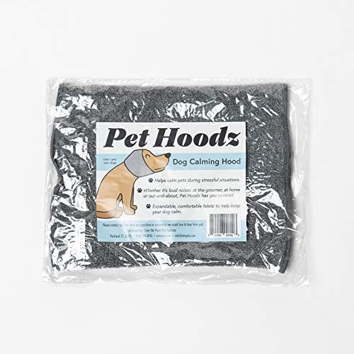Pet Hoodz Hunde-Kapuzenpullover für Angst, Fellpflege, Ohrenschützer, Ohrschutz, beruhigend, Ohrkompression, Haustier-Kapuzenpullover (groß, grau)