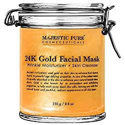 Majestic Pure Gold Facial Mask, Help Reduces the Appearances of Fine Lines and Wrinkles, Ancient Gold Face Mask Formula - 8.8 Oz or 250 gram women's overnight beauty mask