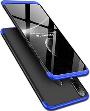 TheGiftKart Full Body 3 in 1 Slim Fit 360 Degree Protection Hard Bumper Back Case Cover for Samsung Galaxy M30 (Blue Black)
