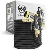 YardSmarter Premium 100 ft Expandable Garden Hose - Retractable...