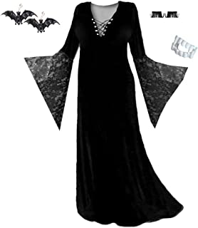 Women's Plus Size Supersize Gothic Black Vampiress Costume Basic Kit Lg to 9X