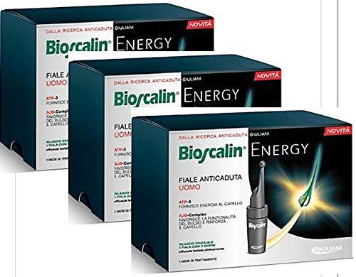 3 x Bioscalin Uomo Energy 10 Fiale Capelli