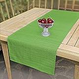 Delindo Lifestyle Tischläufer Samba, grün, 40x140 cm, Fleckschutz, abwaschbar, für Indoor und Outdoor - 3