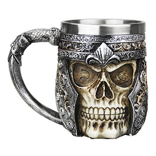 FakeFace Neuheit 3D Schädel Kaffeetasse Teetasse Kaffee Tee Funny Mug Cup Tasse Becher Coffee Mugs wunderbares Geschenk für Weihnachten/Geburtstag/Gedenktag