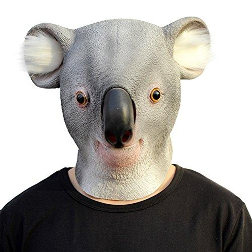 Tinksky Creepy Koala Cabeza de Látex Máscara Teatro Prank