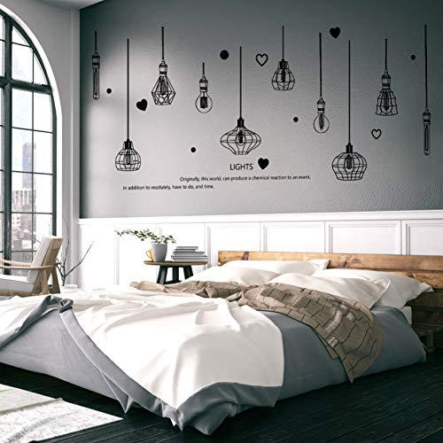 TAOYUE 226 * 97cm Zwart Kroonluchter Muurstickers Licht Lampje Home Decor voor Woonkamer Slaapkamer Art DIY Vinyl Muurstickers Verwijderbaar