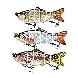 ods señuelo señuelo de pesca para bajo 6 segmentos multi articulado Swimbait lento hundimiento duro señuelo pesca Tackle Kit (kit 1)