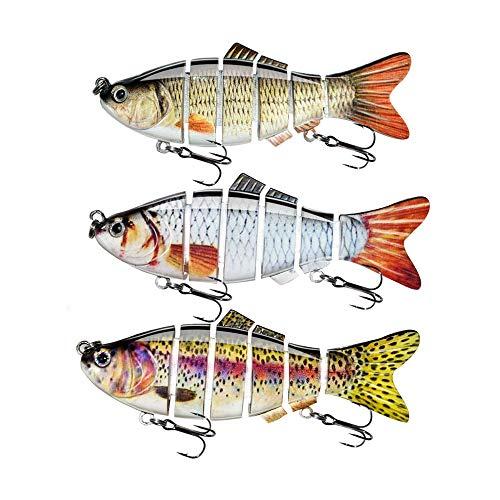 ods lure Fishing Lure for Bass 6 Segment Multi Jointed Swimbait Slow Sinking Hard Lure Fishing Tackle Kit (Kit 1)