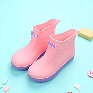 Kids Rainboots with Wide Toe Boys Girls Water Shoes Rubber Boots Antiskid Soft Baby rain Boots Rain Shoes for1-6y Children