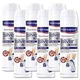 Hansaplast Silver Active Fußspray 150 ml 6er Pack, Fußspray Antitranspirant mit 48h Schutz vor Fußgeruch und Schweiß, Aktiv-Komplex mit Silber-Ionen