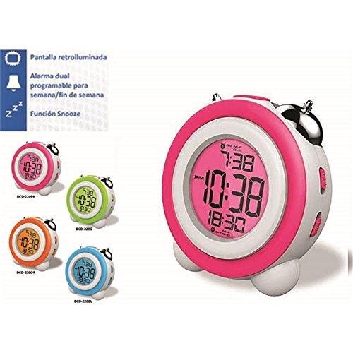 Daewoo DCD-220PK - Despertador digital función Snooze