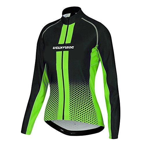 Uglyfrog Neue Bike Wear Damen Atmungsaktiv-Langarm-Rennradtrikot Rennrad Trikot, MTB Selected Fabrics, Power Lady Great Gifts Fahrradbekleidung