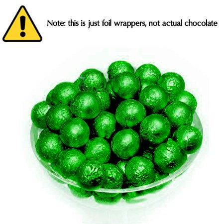 Foil Confectionery (Dark Green) Wrapper- Candy Bar Wrappers without paper Backing - Folds and Wraps Well - Best for Wrapping Candies/Chocolate Balls Size 4 x 4/ Pack of 100
