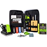 Demon Mechanic Elite X Ski Tuning Kit & Snowboard Tuning Kit with Ski Wax Iron, Ski and Snowboard Wax & Demon Elite X Ski and Snowboard Edge Tuner w/Diamond Files