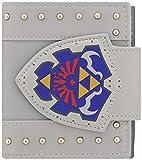 Bioworld NINTENDO Legend of Zelda Hylian Shield Bi-Fold Wallet, One Size, Light Grey (MW202060ZEL) Monedero, 17 cm, Gris (Grey)