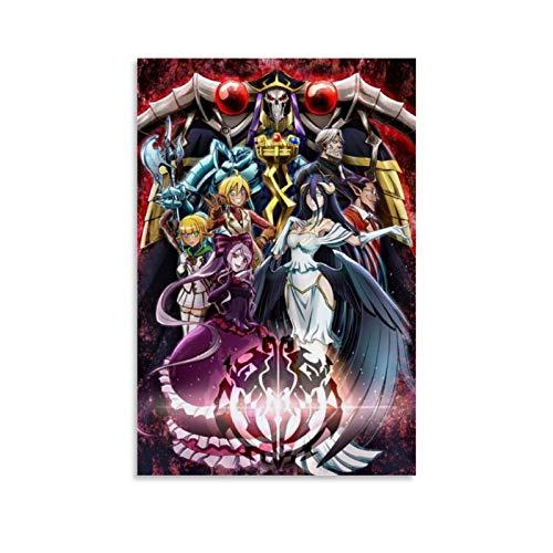 Anime Overlord 3 Poster, dekoratives Gemälde, Leinwand, Wandkunst, Wohnzimmer, Poster, Schlafzimmer, Malerei, 50 x 75 cm