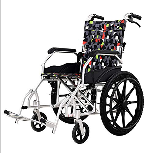 SXFYQ klapstoelen, licht en comfortabel, voor rolstoel, handmatig, van aluminium, ademend, multifunctioneel, oude trolley