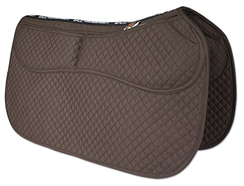 ECP All Purpose Diamond Quilted Therapeutic Contoured Correction Support Western Saddle Pad