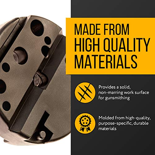 Universal Bench Block - Ideal for M1911 / M-1911 / M 1911 -Style Pistols, Glock, 10/22s and More - Ideal Armorers Block and Gun Smithing / Gunsmithing Tool Made With Non Marring Materials