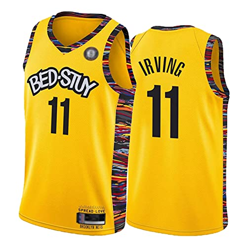 Kyriè Irvińg Verdiente Stadt Edition Jersey Nèts # 11 amarillo Juventud Adulto sin mangas Chaleco Chándal Camisa S