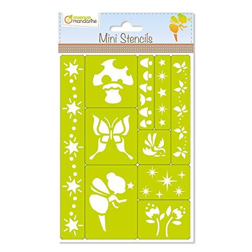 Avenue Mandarine 42830O Set mit Mini-Schablonen (zum Verzieren und Gestalten, ideal für Ihre Bastelarbeiten, Kartengestaltung, dekorative Schachteln, usw, Prinzessin)