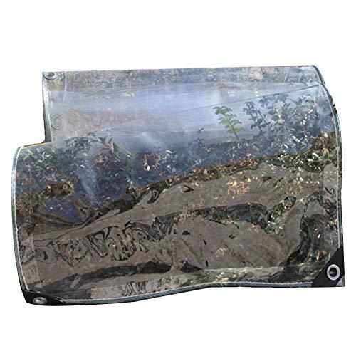 LIANGJUN Bâche De Protection Tissu Imperméable Imperméable PVC Balcon Solaire, Plus Épais,20 Tailles (Couleur : Clair, Taille : 1.2mx2.8m)