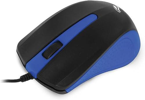 Mouse USB C3Tech MS-20BL Azul - Compatível com PC e Mac Resoluções até 1000 DPI Com cabo de 115cm Sensor óptico