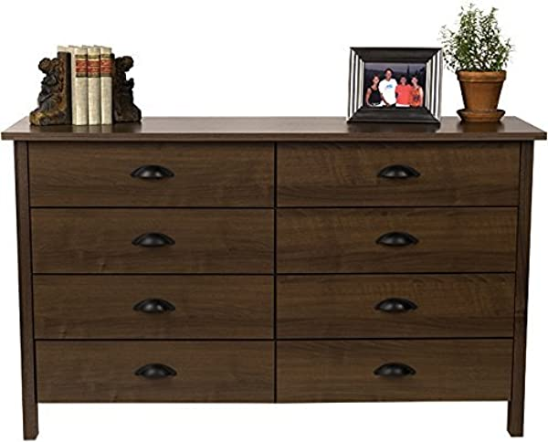Venture Horizon 8 Drawer Nouvelle Dresser Walnut