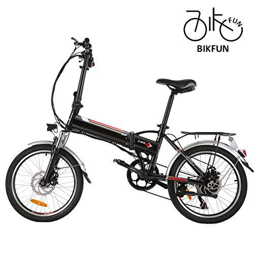 BIKFUN Elektrofahrrad, 20/26 Zoll E-Bike, Lithium-Akku (20 faltbar-schwarz)