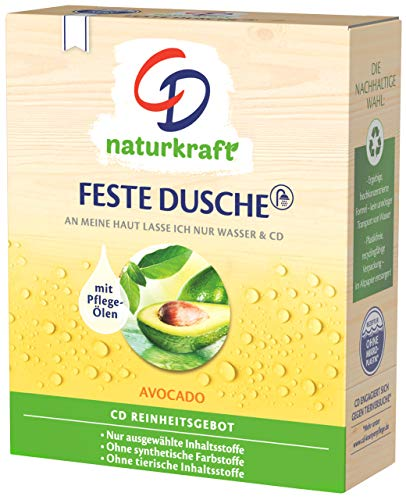 CD Naturkraft Avocado Feste Dusche, Grün, Fruchtig, 2 x 75g