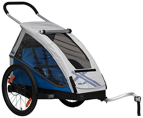 XLC 20 Zoll Mono² Inklusive Buggyrad Fahrradkinderanhänger, blau
