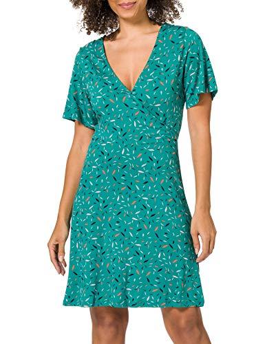 ESPRIT Damen 030EE1E307 Kleid, 370/TEAL Green, XS