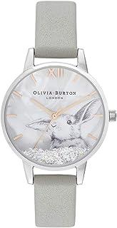 ساعة سنو جلوب للنساء مع مينا ابيض بلاستيكي ثلاثي الابعاد من اوليفيا بورتون - OB16WL86