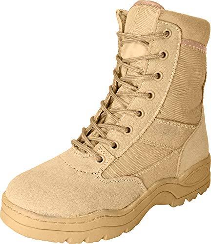 McAllister Army Outdoor Boots Stiefel Arbeitsschuhe Kampfstiefel Securitystiefel (Khaki/46)
