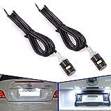 Safego 2x 12mm lumieres SMD LED a vis pour plaque d'immatriculation de moto & voiture