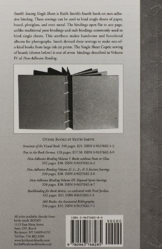 Non-Adhesive Binding, Vol. 4: Smith's Sewing Single Sheets
