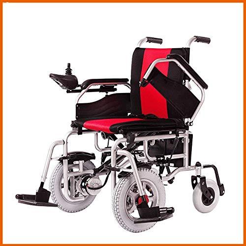 Premium elektrische rolstoel voor senioren met handicatie, lichtgewicht, draagbaar, inklapbare gemotoriseerde rolstoel, zware uitvoering, compacte opklapbare elektrische rolstoel, vliegzeu