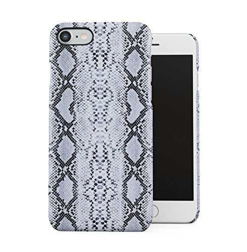 DODOX White Black Snake Skin Pattern Case Compatible with Apple iPhone 7/8 / SE 2020 Snap-On Hard Plastic Protective Shell Cover Carcasa