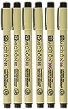 Sakura Black Pigma Micron Pen Set 6 Sizes
