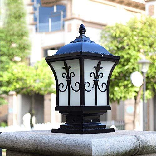 Continental Victoria Retro LED Lámpara de Mesa para Exteriores Impermeable Villa Balcón Valla Columna Lámpara Luz de Escritorio Vidrio Aluminio Luz E27 Decoración Luces de jardín Lámpara de céspe